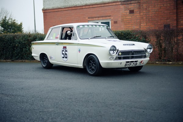 Lotus Cortina Black Wheels